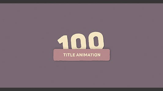 Thumbnail for 100 Title Animation