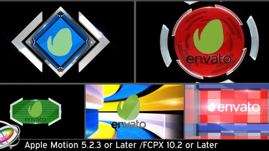 Thumbnail for Broadcast Logo Transition Pack V3 - Apple Motion