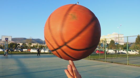 Thumbnail for Basketball Spinning on Finger in Open Area
