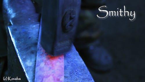 Blacksmith Forging a Sword