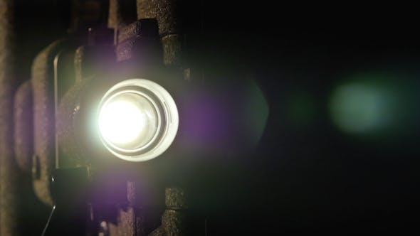 Cinema Projector Lens Light