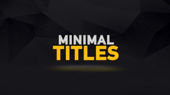 Animationen für minimale Titel