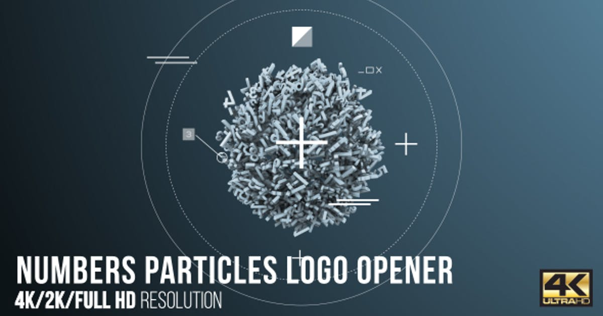 Download Numbers Particles Logo Opener by CandyMustache