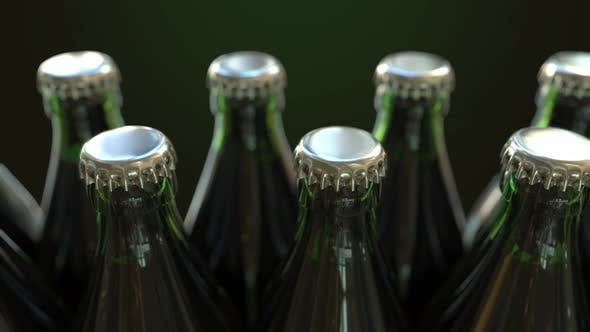Cover Image for Row of Green Bottles