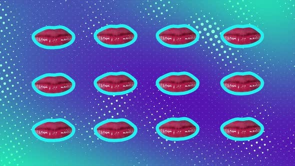Thumbnail for Minimal Motion Design Art Lips Animation