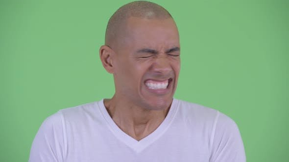 Thumbnail for Face of Angry Bald Man Shouting and Screaming