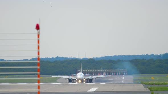 Thumbnail for Airplane Braking After Landing
