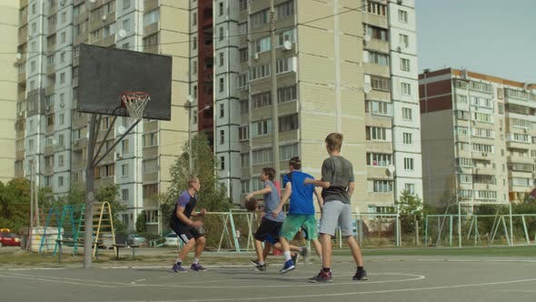 Thumbnail for Sporty Streetball Player Scoring Point After Layup