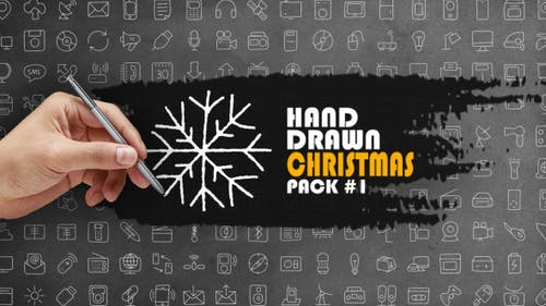 Lot de Noël dessiné à la main 1