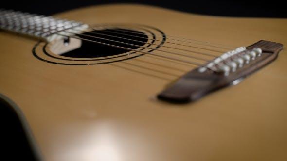 Thumbnail for Light Yellow Acoustic Guitar . Modern Design