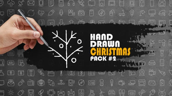 Thumbnail for Hand Drawn Christmas Pack 2