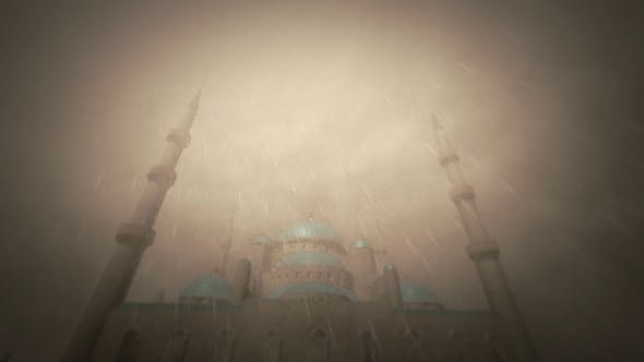 Thumbnail for 3d Rain And Mosque Scene