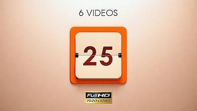 Calendar Countdown - 6 Pack