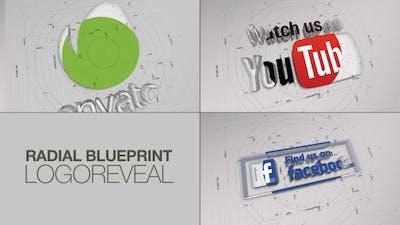 Radial BluePrint LogoReveal