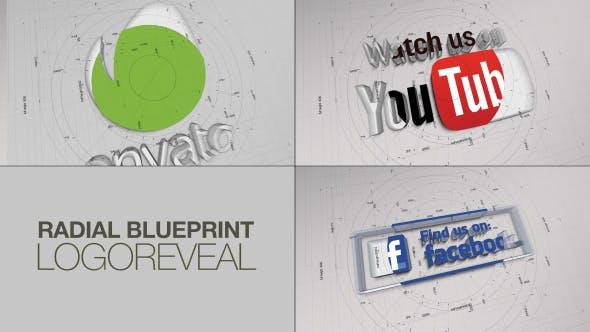 Thumbnail for Radial BluePrint LogoReveal