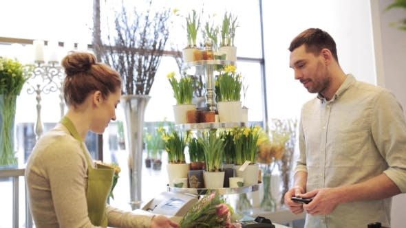 Thumbnail for Florist And Man Buying Flowers At Flower Shop 5