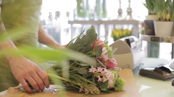 Thumbnail for Florist With Flowers And Customer At Flower Shop 21