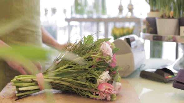 Thumbnail for Florist With Flowers And Customer At Flower Shop 20