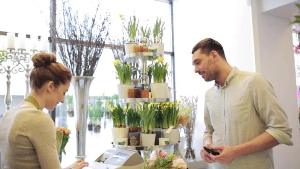 Thumbnail for Florist And Man Buying Flowers At Flower Shop 4