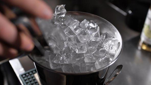 Thumbnail for Metal Ice Bucket. Barman Add Ice.