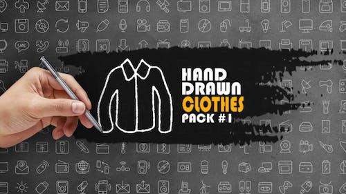 Lot de vêtements dessinés à la main 1