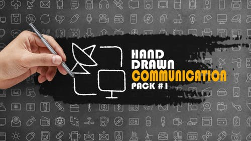 Pack de communication dessiné à la main 1