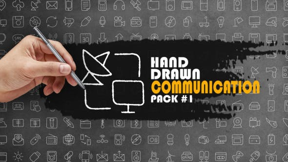 Thumbnail for Hand Drawn Communication Pack 1