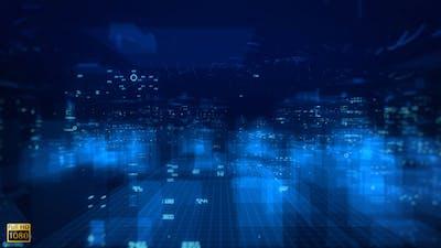 City Light Tech Digital Background