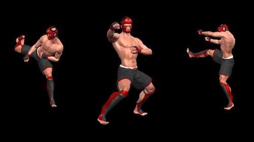 Kampfkunst - Male Fighter - Combo 01