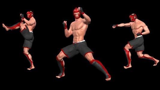 Kampfkunst - Male Fighter - Combo 02