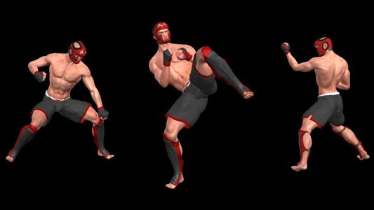 Martial Art - Male Fighter - Combo 03