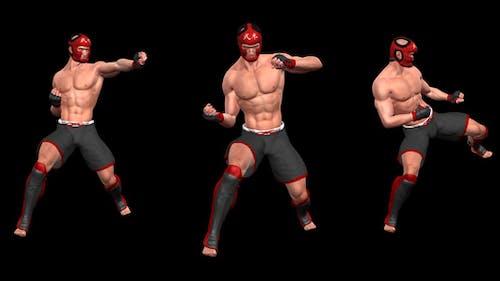 Kampfkunst - Male Fighter - Combo 05