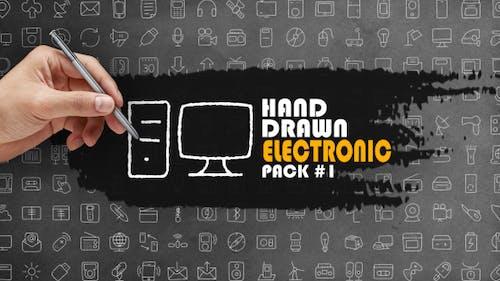 Paquet Électronique dessiné à la main 1