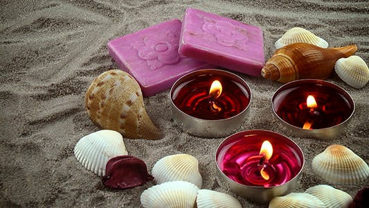 Thumbnail for Seashells & Candles & Soaps on the Sand