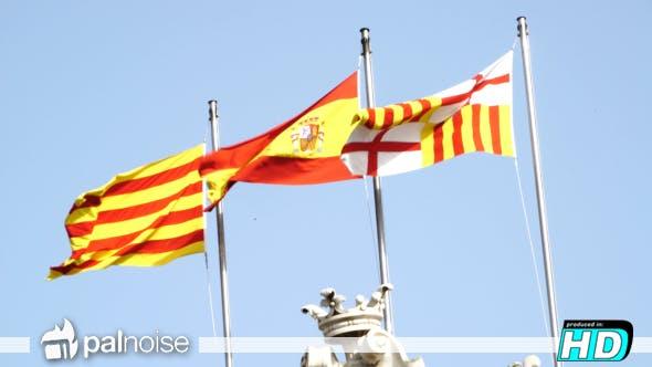 Thumbnail for Flag Spain, Catalonia & Barcelona