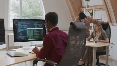 Web Designers Working in Office