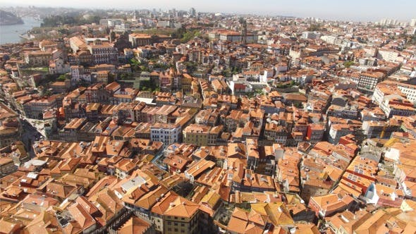 Thumbnail for Flying Over Historic City Center of Porto