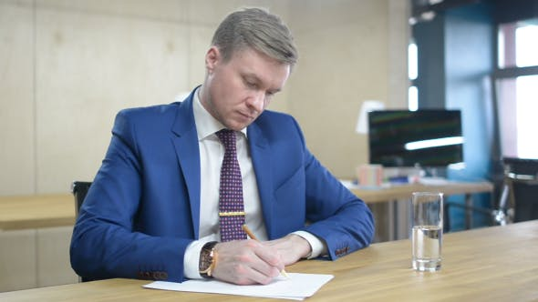 Thumbnail for Fast Writing Businessman