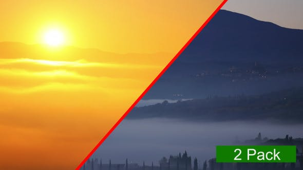 Thumbnail for Mountains ans Fog (2-Pack)