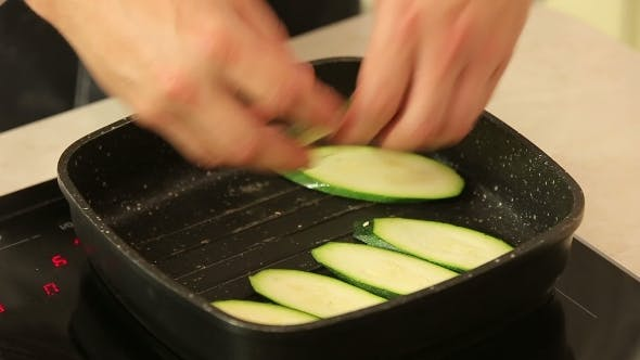 Thumbnail for Frying Sliced Zucchini In a Pan