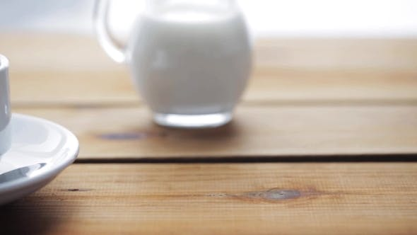 Thumbnail for Full Cup Of Coffee On Wooden Table 48