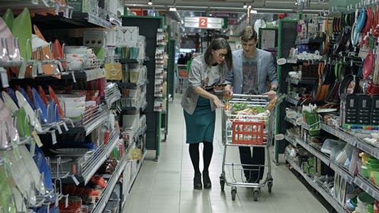 Thumbnail for Young Couple in a Supermarket