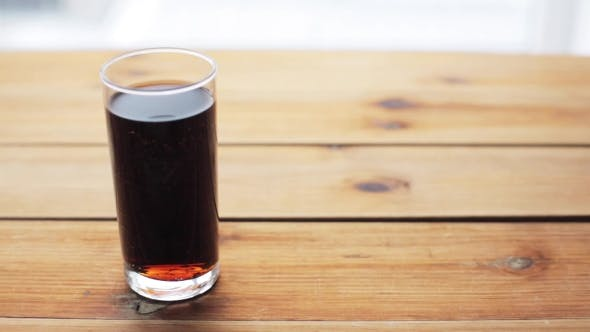 Thumbnail for Glass Of Lemonade Or Soda Drink On Wooden Table 19