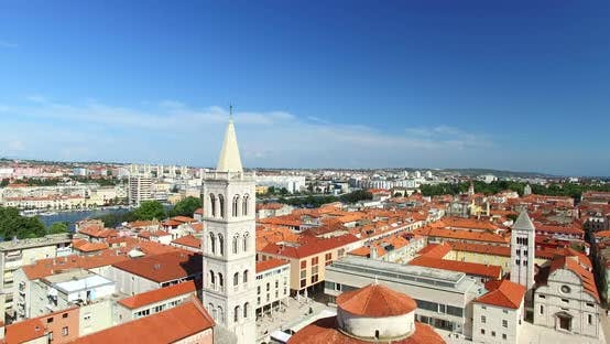 Thumbnail for Tower Of Cathedral Of St. Anastasia In Zadar, Croatia 6
