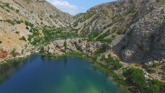 Thumbnail for Aerial View Of Zrmanja River, Croatia 3