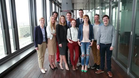 Thumbnail for Portrait Of Smiling Business And Advertising Team