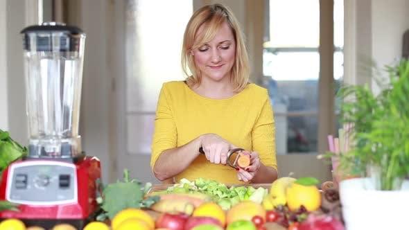 Thumbnail for Pretty Woman Peeling Carrot 1