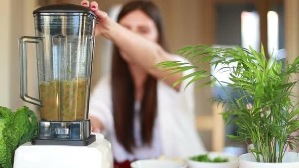 Thumbnail for Woman Blending Vegetables