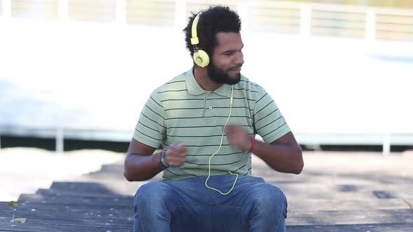 Thumbnail for Handsome Man With Headphones Listening To Music 2