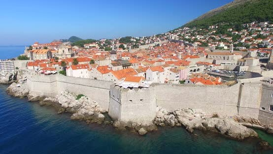 Thumbnail for Aerial View Of City Walls In Dubrovnik 2